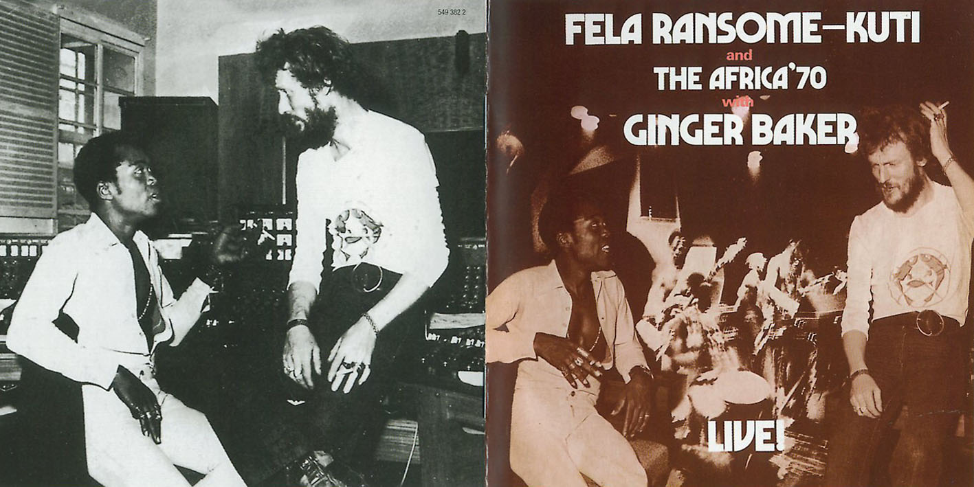 Fela Kuti Live With Ginger Baker and Tony Allen – A More